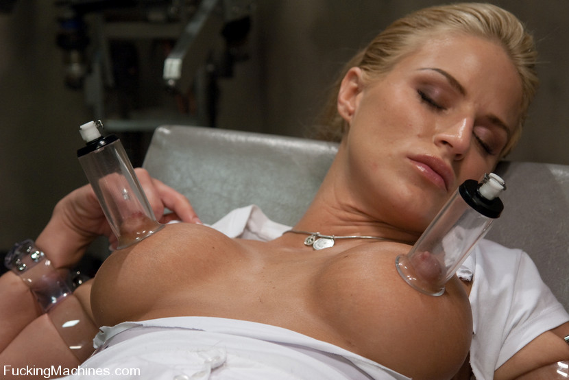 Busty Blonde Fucked By Machines