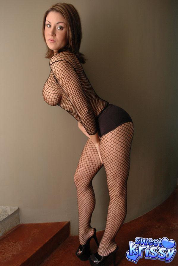 lesbian full body fishnets